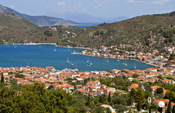 Vathi bay of Ithaki island in Greece Stock Photo
