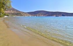 Vathi beach Sifnos Greece stock photos