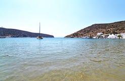 Vathi beach Sifnos Greece royalty free stock photography