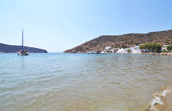 Vathi beach Sifnos Greece royalty free stock image