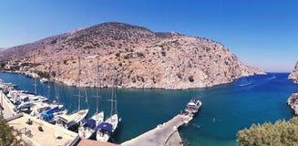 Vathi fjord Royalty Free Stock Image