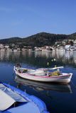 Vathi Harbor at Ithaki Island Royalty Free Stock Image