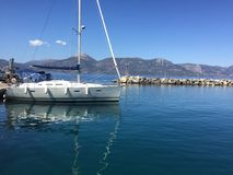 Vathi at Methana small port. For sailling in Greece Stock Photo