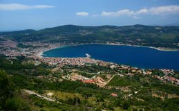 Vathi or Samos town. Samos island. Greece Stock Image