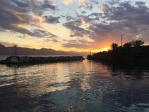 Vathi som seglar liten port Grekland Royaltyfria Bilder