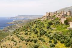 Vathia Dorf, Griechenland Lizenzfreie Stockfotos