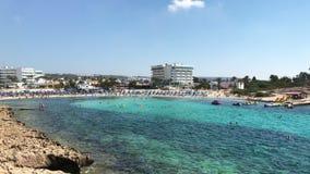 Vathia Gonia plaża blisko Ayia Napa w Cypr zdjęcie wideo