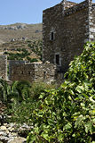 Vathia Landscape. Panorama landscape of traditional old Greek village named Vathia at south Peloponnese Stock Images