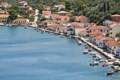 Vathy,希腊乡  免版税库存图片