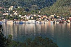 Vathy in Ithaki island, Greece Stock Image