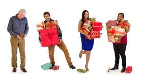 Vati erhält weniger Geschenke Stockbild