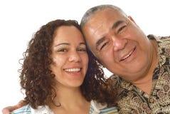 Vati mit seiner Tochter lizenzfreies stockfoto