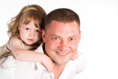 Vati mit Tochter Stockfoto