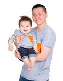 Vati- und Babysohn stockfotografie
