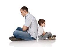 Vati und der Sohn stockfoto