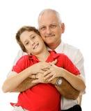 Vati und junger Sohn Lizenzfreie Stockfotografie