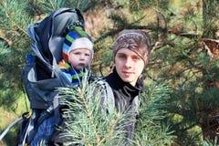 Vati und Sohn Stockfotografie