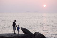 Vati und Sohn Lizenzfreies Stockbild