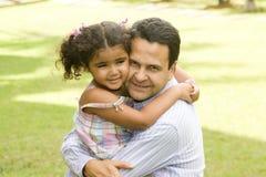 Vati und Tochter Stockbilder