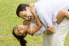 Vati und Tochter Lizenzfreie Stockbilder
