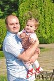 Vati und Tochter lizenzfreies stockfoto