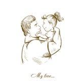 Vati und Tochter vaterschaft kindheit väterliche Gefühle Liebe für Kinder Stockfoto