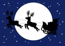 Vati-Weihnachten mit dem Pferdeschlitten Lizenzfreies Stockbild
