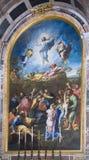 Vatica bild som målas av Raphael, Transfigurationn italy Royaltyfri Bild