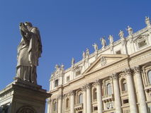 Vatican. St. peter cathedral in vatican Stock Image
