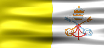 Vatican. City Flag - Symbol of a country Royalty Free Stock Images
