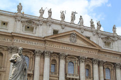 Vatican. St Peter's Cathedral, St Peter's Basilica, Vatican Stock Photos