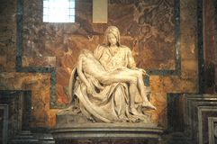Vatican. The Piety, sculpture of Michelangelo. St Peter's Basilica. Vatican City. Rome. Italy royalty free stock photos