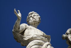 Vatican 4. Statue of saint in Vatican Square in Rome, Italy Royalty Free Stock Image