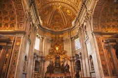 Vatican all'interno dell'altare Roma di Spirito Santo Immagini Stock