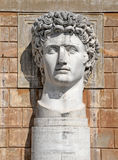 VATICAN - APRIL 18: Statue of Gaius Julius Caesar Augustus at VaticanMuseums at April 18, 2015. He was the first ruler of the Rome Royalty Free Stock Image