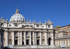 Vatican. The area before St. Peter Cathedral Stock Images