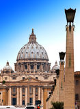 Vatican. The area before St. Peter's Cathedral.Cityscape in a sunny day Stock Image