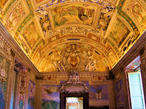 Vatican art. Vatican Museums - Gallery of the Geographical Maps Royalty Free Stock Photography