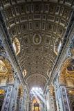 Interior of St. Peter's Cathedral, Vatican City. Italy Stock Image