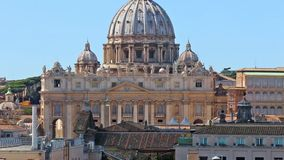 VATICAN Basilica of St. Peter in Rome. Zoom. VATICAN. Basilica of St. Peter in Rome. St. Peter`s Square and St. Peter`s Basilica is one of the most popular stock video footage