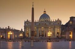 Vatican - basilique de rue Peters - Rome - l'Italie Image stock