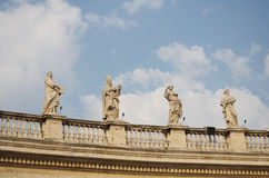 The Vatican Bernini's colonnade in Rome Stock Photos