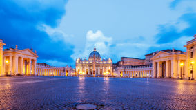 Vatican at the Blue Hour Stock Photos