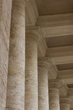Vatican buildings architecture - columns Royalty Free Stock Photos