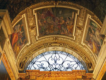Colourful Frescos,The Church of St. Louis of the French, Rome, Italy Royalty Free Stock Image