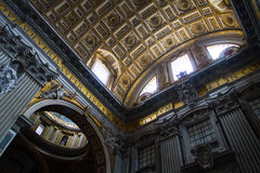 Vatican Ceiling Dome Rome Italy Stock Photo