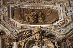 Vatican Ceiling Inside Sculpture Rome Ital Royalty Free Stock Photos