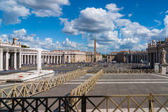 Vatican central square. View to central square of Vatican, Italy Royalty Free Stock Photos