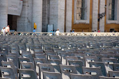 Vatican chairs Royalty Free Stock Image