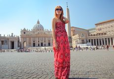 In the Vatican City Royalty Free Stock Photography